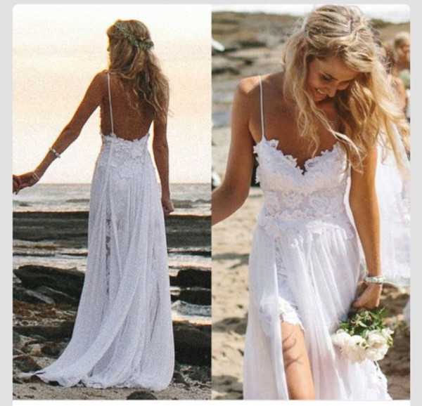 Dress wedding dress beach wedding short dress long for Short wedding dress for beach