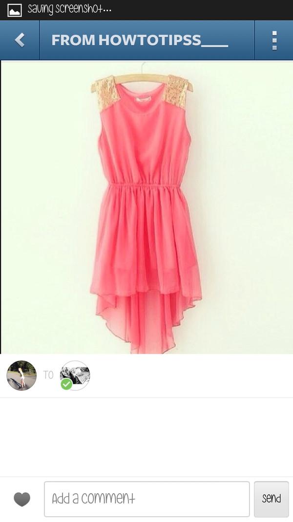 dress coral dress