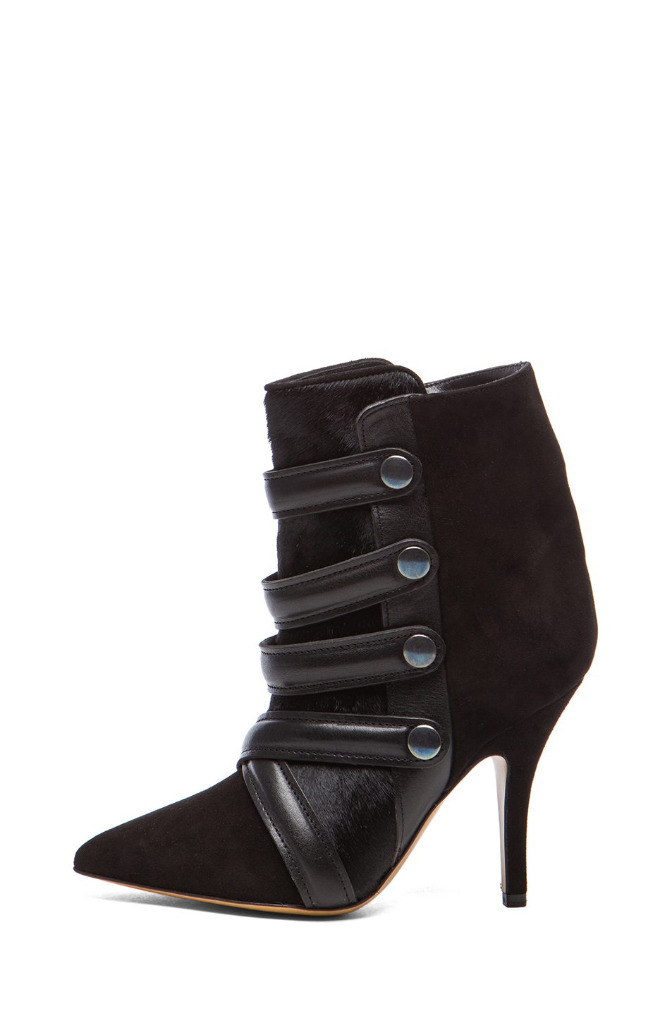 Isabel Marant Tacy Pony Booties in Black
