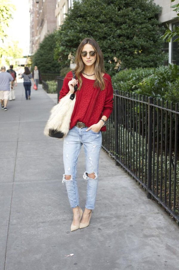something navy jeans bag sweater belt shoes sunglasses