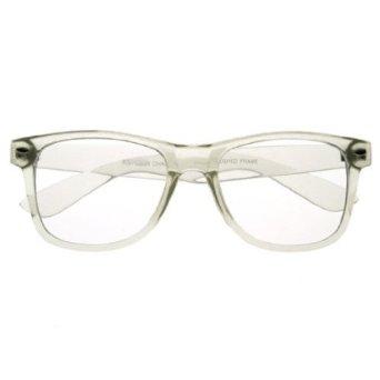 Amazon.com: Wayfarer Crystal Clear Frame Lens Transparent Sunglasses Eyeglasses W131 Clear: Clothing