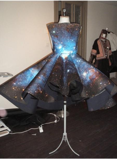 dress galaxy dress ball gown dress