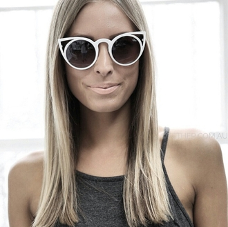 sunglasses cat eye shades white sunglasses hipster style trendy stylish girly cute classy cool tumblr tumblr girl accessories accessory girl edgy authentic instagram retro sunglasses cat ear sunglasses cat ears 2015 2015 sunglasses