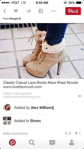 shoes lace boot heels