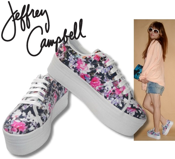 shoes jeffrey campbell zomg trainers sneakers floral platform shoes flatform shoes floral shoes floral shoes platform shoes flatforms