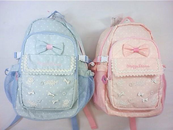 bag light pink baby blue lolita pastel bag pastel goth backpack pastel bow backpack pink blue