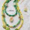 Large green and yellow multi strand fashion statement necklace, jasper slabs, citrine pendant, natural agate, fresh colors layered necklace