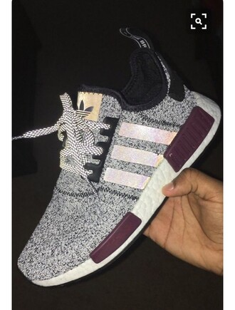 shoes adidas tennis shoes grey purple
