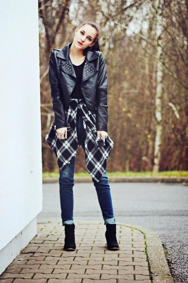 leona meliskova jacket jeans shoes t-shirt