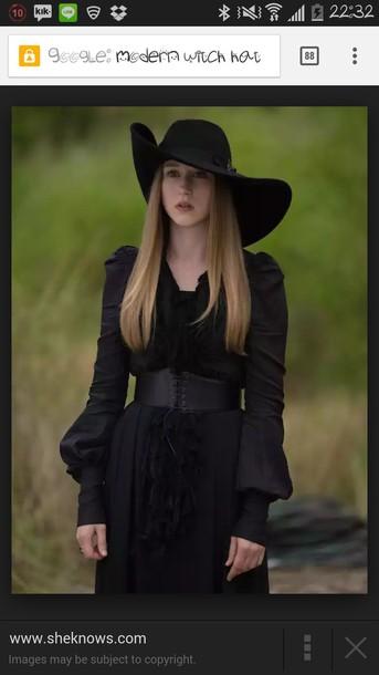 hat black hat witch hat wide brimmed hat asymmetrical asymmetrical