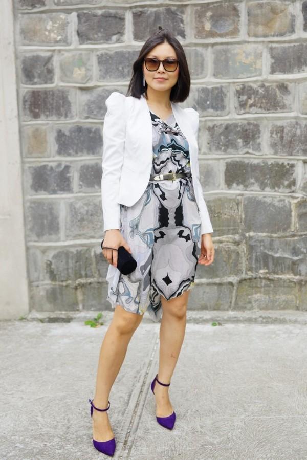 cecylia jacket dress sunglasses belt bag shoes