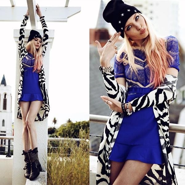 Luxurious Splice Lace Pattern Dress | Choies