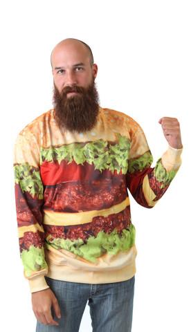 Cheap Sweatshirt: Burger Unisex Sweatshirt   Belovedshirts