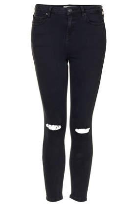 Petite MOTO Ripped Black Wash Jamie Jeans - Jeans - Clothing - Topshop
