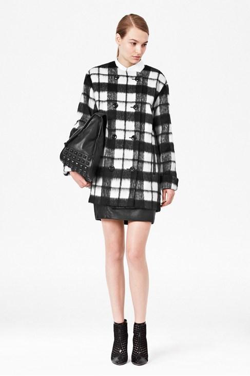 Checked Bunny Coat - Coats & Jackets - French Connection Usa