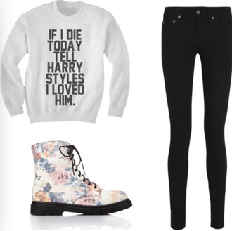 sweater harry shoes