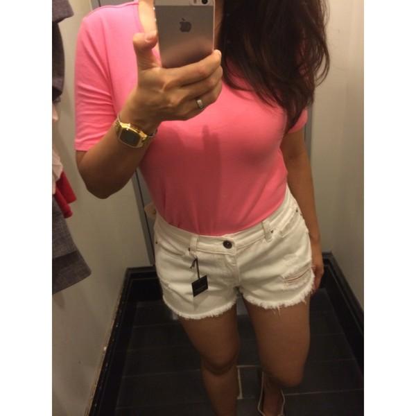 shorts white shorts