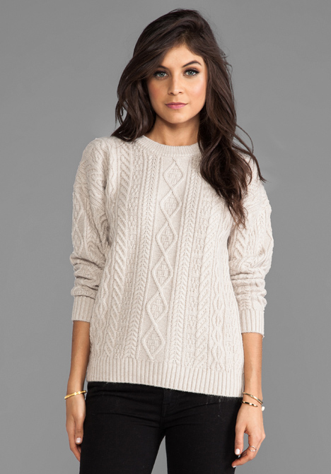 CENTRAL PARK WEST Caribou Pullover in Oatmeal - Sweaters & Knits