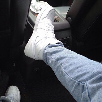 shoes white nike mens shoes jeans nike sneakers high top sneakers cool