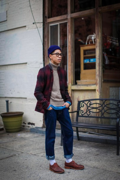 closet freaks blogger jeans hipster menswear flannel shirt