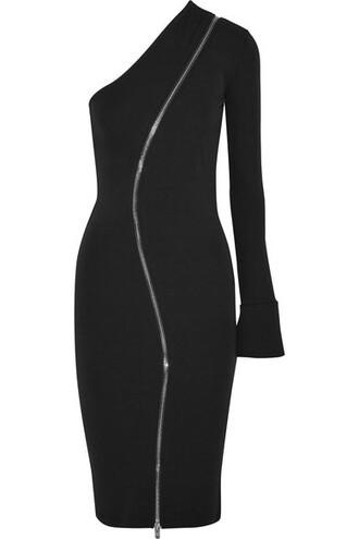 dress midi dress zip midi black