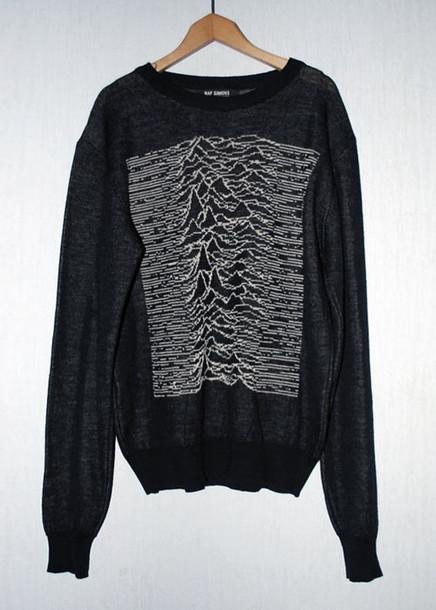 mountaints joy division grey grey sweater sweater print black band t-shirt vintage lovely grunge blouse