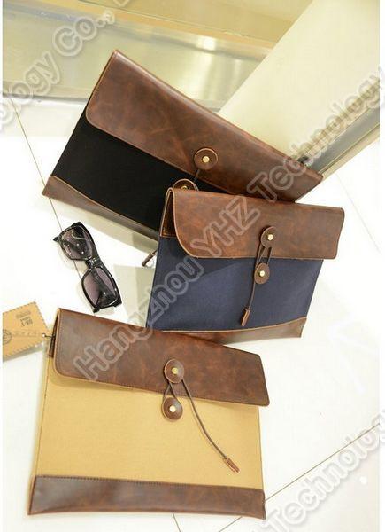 Retro Men's Brief Case Clutch Envelope Portfolio PU File Bag Vintage Briefcase  YHZ70518-in Briefcases from Luggage & Bags on Aliexpress.com