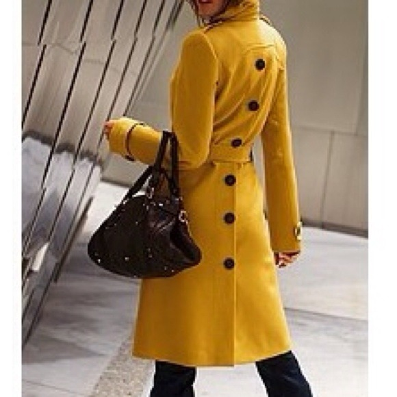 33% off Victoria's Secret Outerwear - Yellow Trench Coat from Margaret's closet on Poshmark