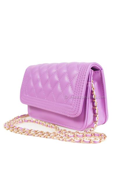 Lost In Manhattan Quilted Bag - Purple | Honey Peaches