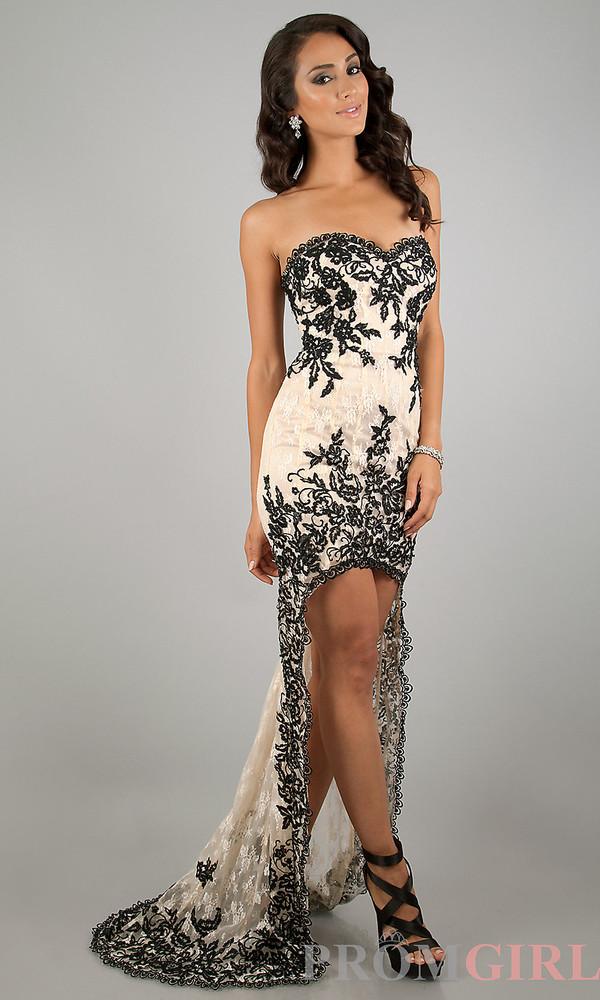 dress lace high low prom dresses