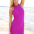 Purple Party Dress - Purple Halter Bodycon Dress with | UsTrendy