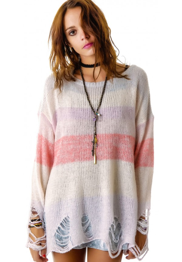 Wildfox Couture Popsicle Lennon Sweater   Dolls Kill
