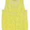 Yellow crocheted lace vest - choies.com