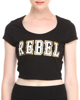 """Buy Two-Tone """"Rebel"""" Crop Top Women's Tops from COOGI. Find COOGI fashions & more at DrJays.com"""
