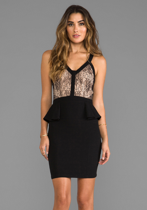 HEARTLOOM Madelyn Lace Dress in Black at Revolve Clothing - Free Shipping!