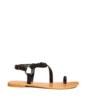 ASOS | ASOS FELTON Leather Flat Sandals at ASOS