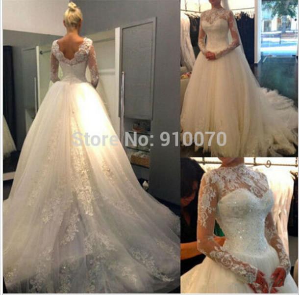 dress wedding dress long sleeve wedding dress bridal gown lace wedding dress elegant wedding dress white bridal dress