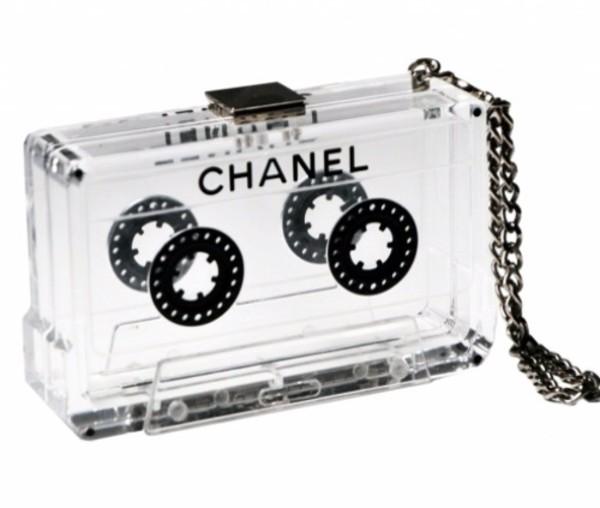 bag chanel clutch clear casette transparent  bag retro style transparent  bag cassette chanel bag vintage chanel