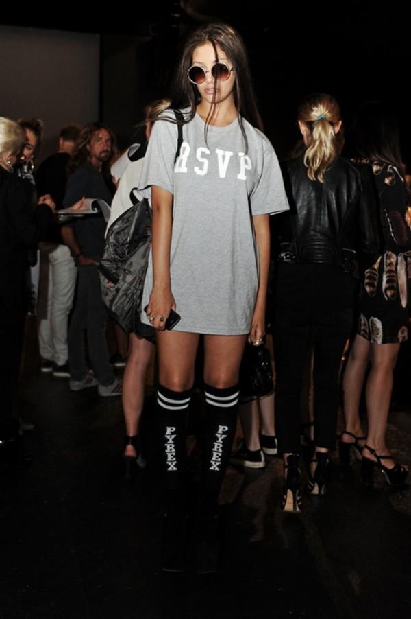 shirt tumblr rsvp tumblr shirt tumblr girl model dress grey top asvp