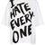 I Hate Everyone Oversize Tee - Jersey Tops - Clothing - Topshop USA on Wanelo