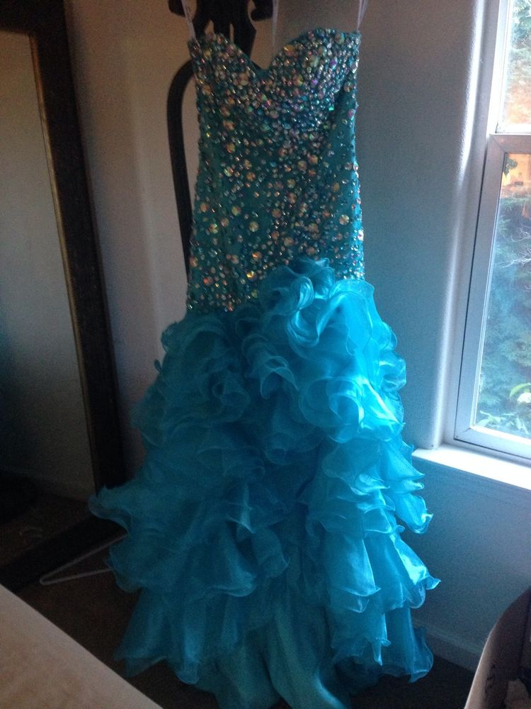 Sherri Hill 21127 Prom Dress Size 4 Blue with High Low Skirt Cheap Price   eBay