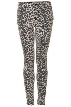 MOTO Leopard Leigh Jeans - Topshop