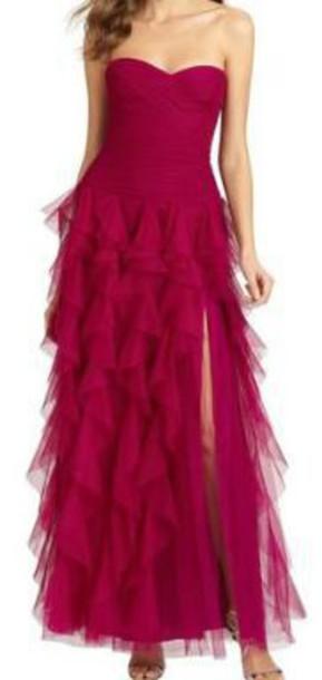 dress strapless strapless dress ruffle dress long dress slit dress