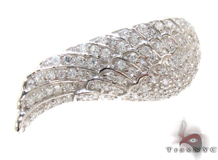 Clear CZ Wing Ring 21320 Ladies Silver Rings For Women .925 Silver