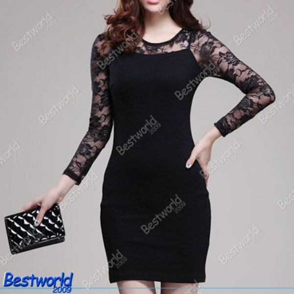 dress little black dress lace dress