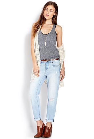 No-Fuss Boyfriend Jeans   FOREVER 21 - 2000108075