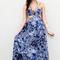 Blue longer lengths dress - blue floral maxi dress with | ustrendy