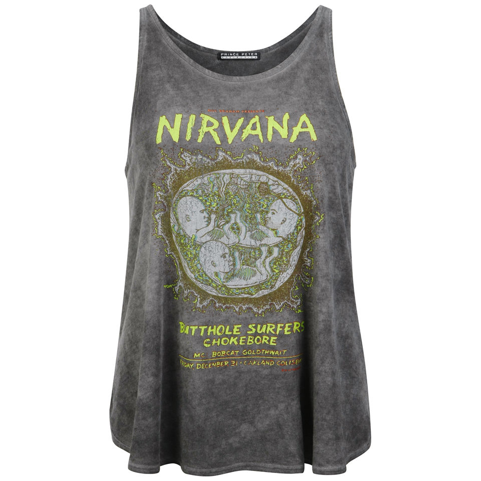 Prince Peter Women's Nirvana Tank Top - Vintage Black Womens Clothing - Free UK Delivery over £50