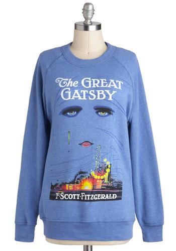 Novel Tee Sweatshirt in Jay | Mod Retro Vintage T-Shirts | ModCloth.com