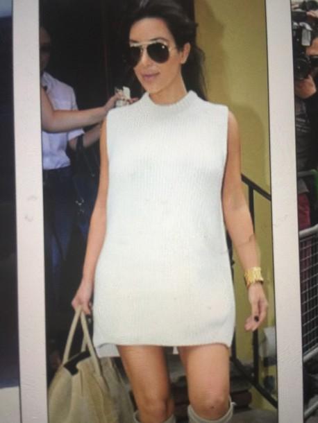 kim kardashian shift dress white dress